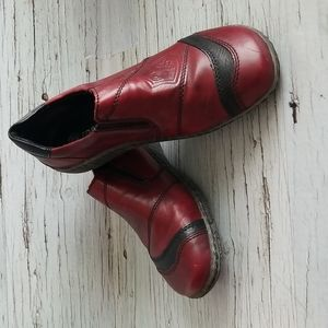 Deep red remonte leather shoe